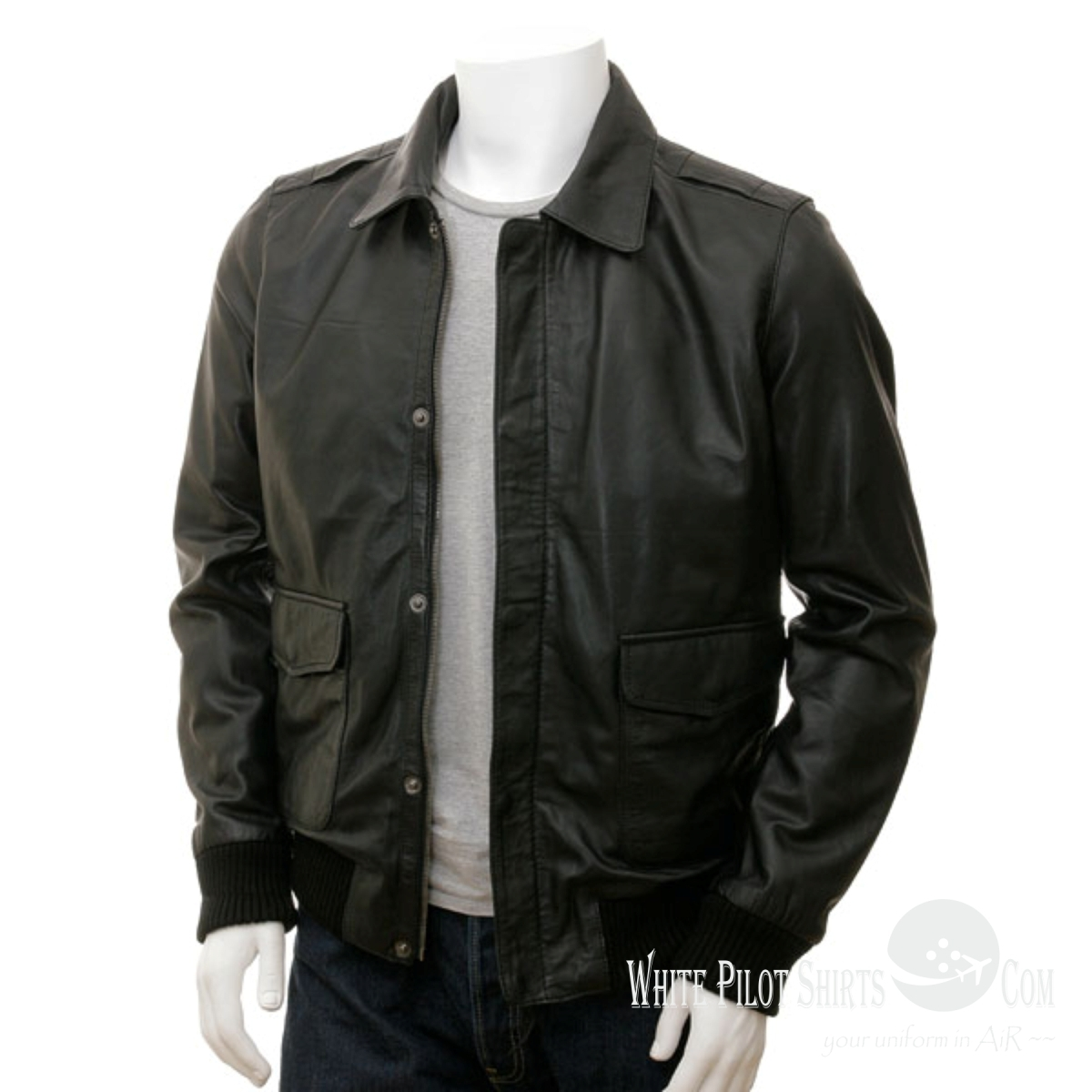 A lightweight, sleek version of our USAF A-2 Flight Jacket, our Lightweight Pilot A-2 is a handsome variation of classic style. Alpha G-1 Leather Jacket (Black) $ Now: $