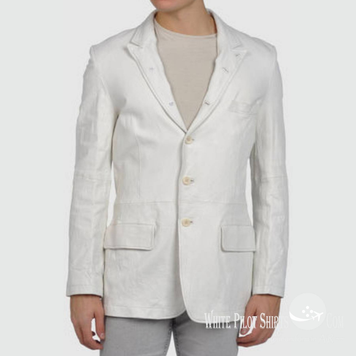 5 suit style jacket white leather jackets men 39 s for Mens white leather shirt