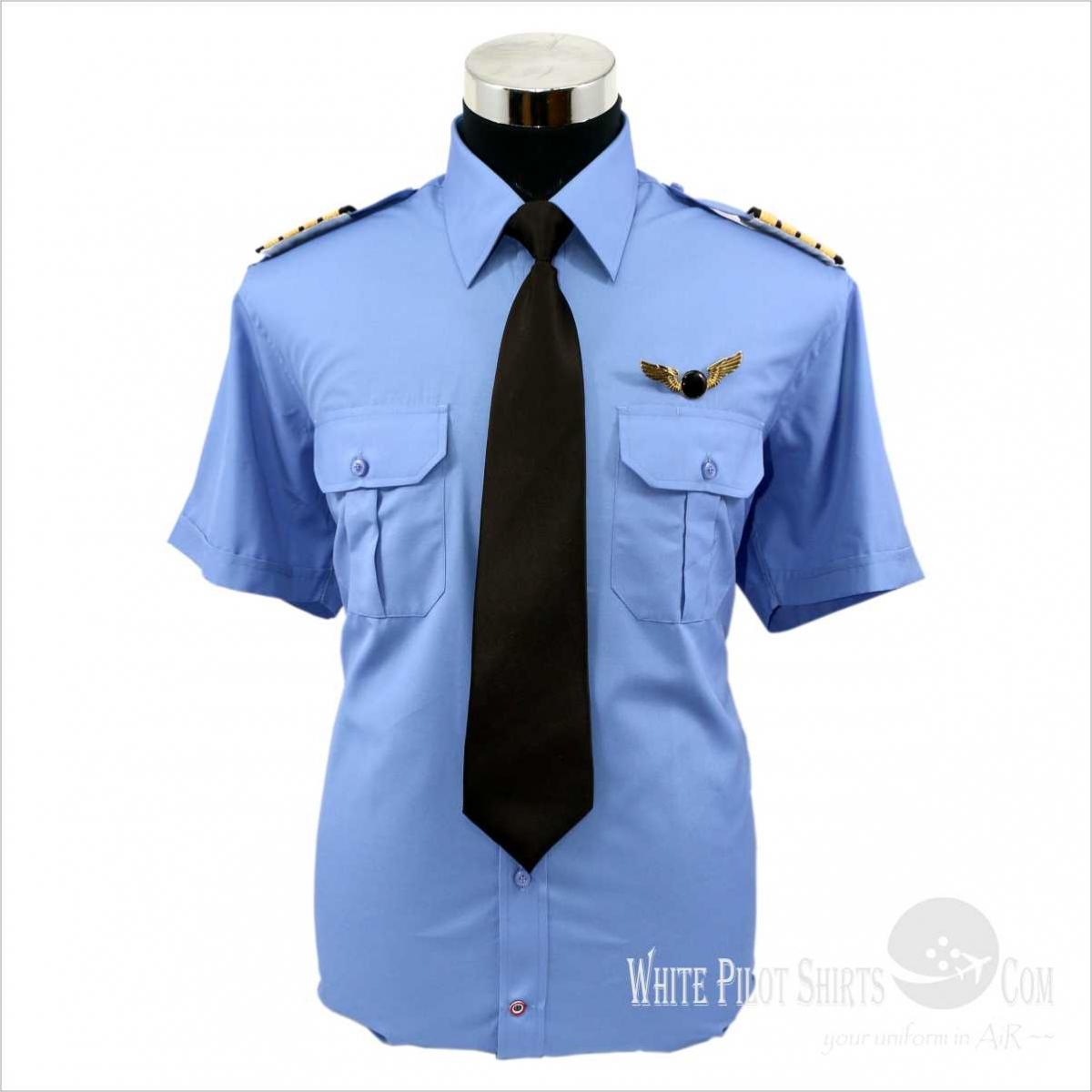 Blue Pilot Shirts 50 Cotton 50 Polyester Pilot