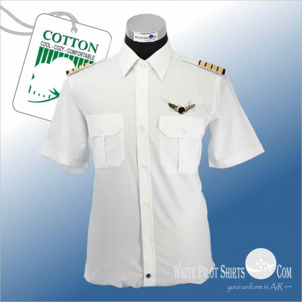Cotton 2 ply 200 39 s sea island poplin pilot shirts for 2 ply cotton shirts